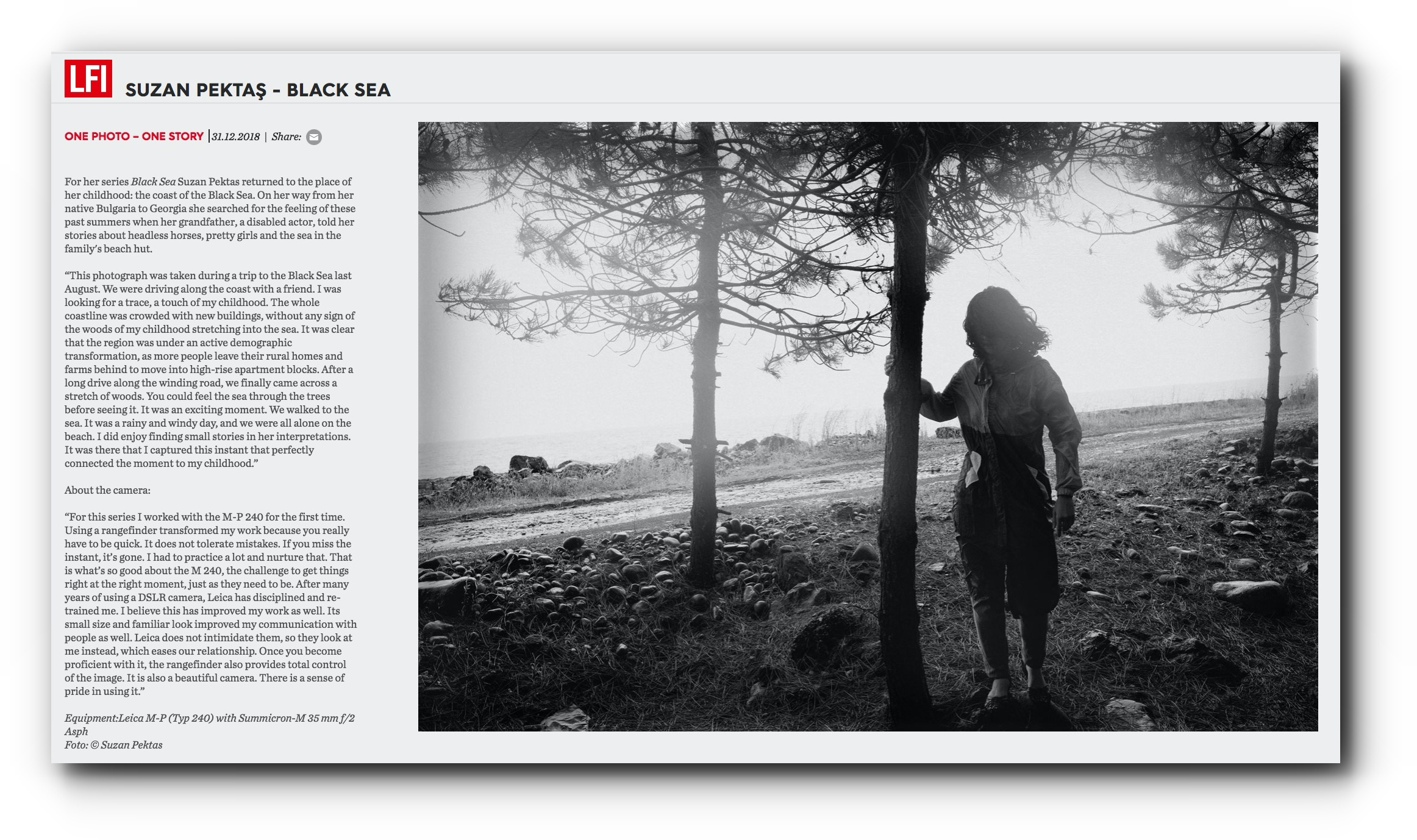 """One Photo - One Story from """"Black Sea"""" Series Featured in LFI Magazine - December, 2018"""