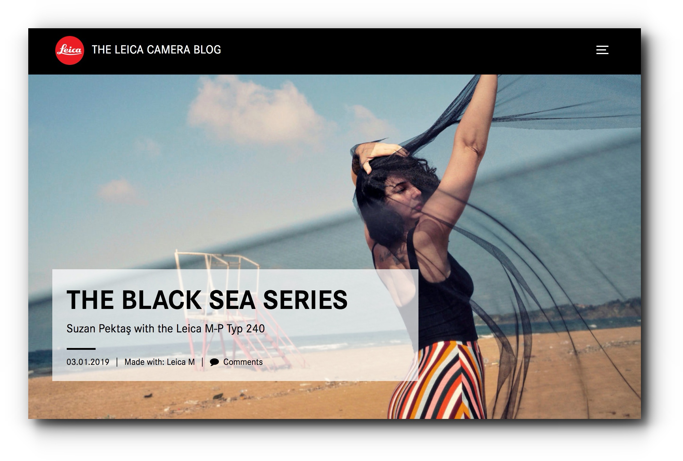 The Black Sea series featured in the Leica Camera Blog - December, 2018