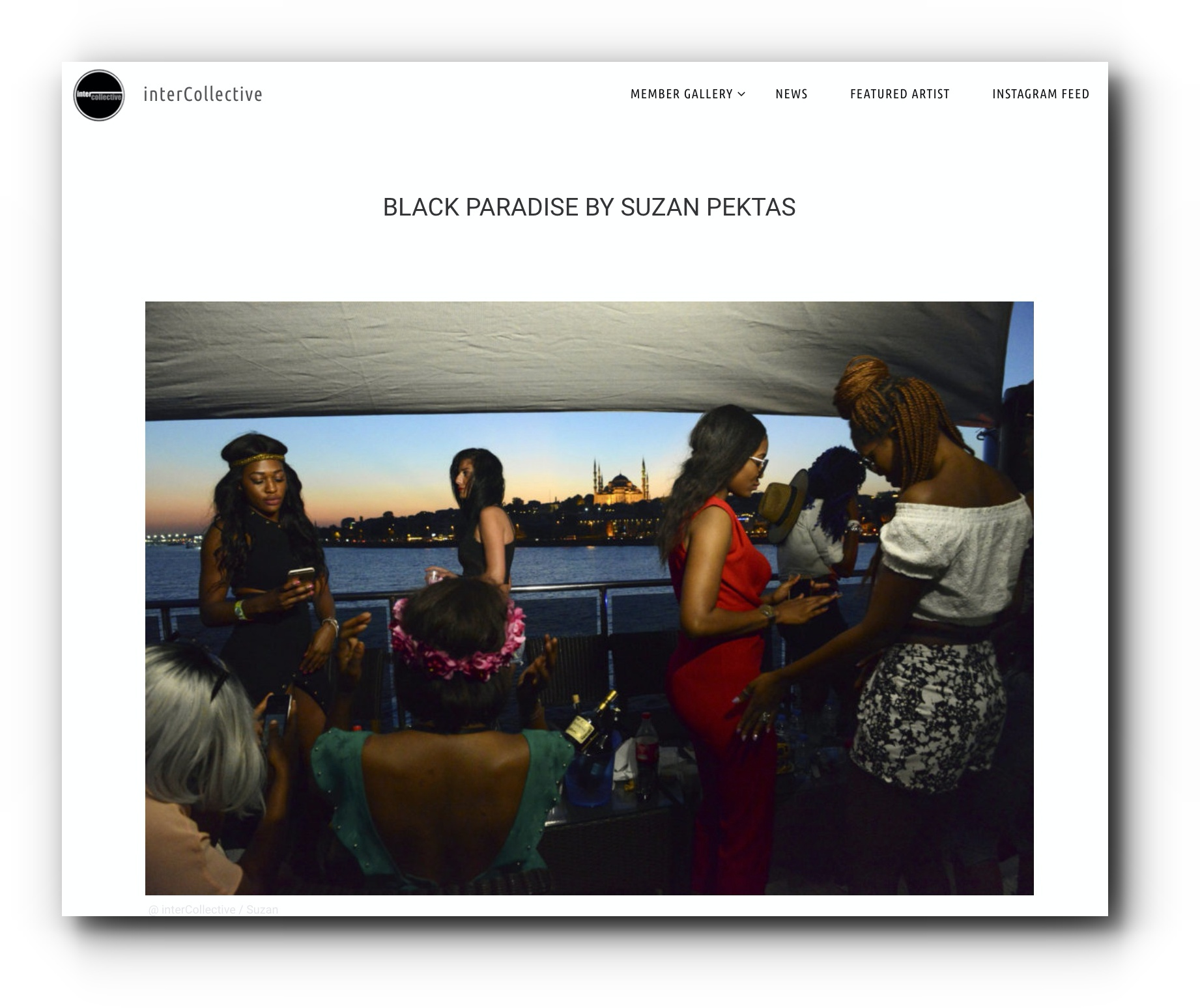 Black Paradise series featured by InterCollective - October, 2018