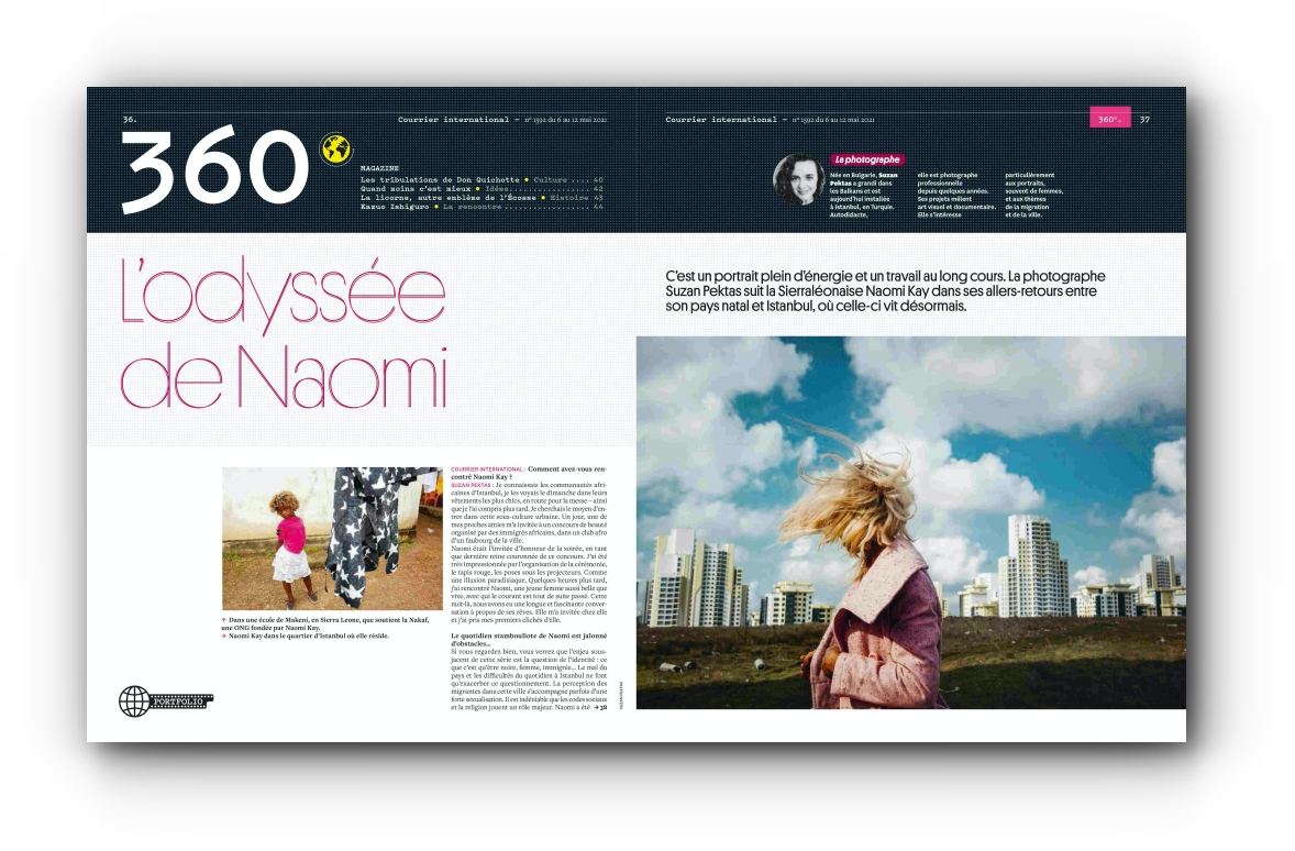 """""""Naomi, Here I Am"""" series has been featured in the French magazine Courrier International - May 2021"""